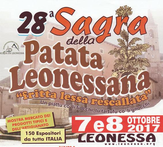 Sagra della Patata a Leonessa – 7 e 8 Ottobre 2017