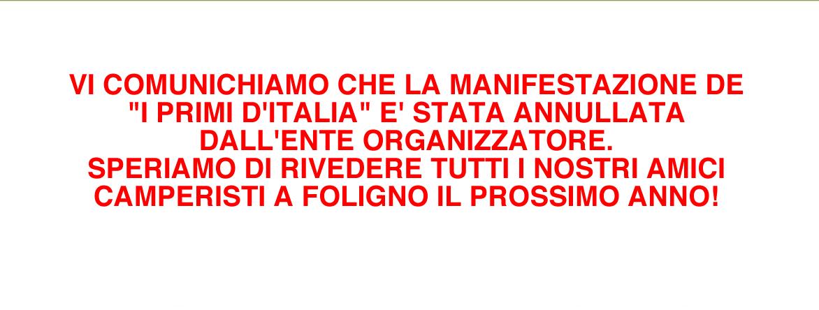 ANNULLAMENTO PRIMI D'ITALIA